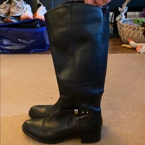 Used Franco Sarto black tall boots women size 9.5